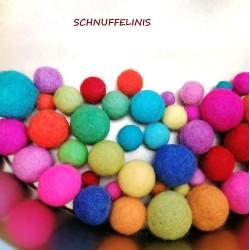 Felt balls 4sizes mix