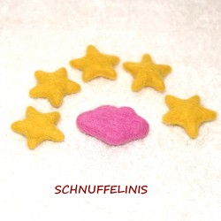 Felted clouds stars set 14...