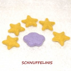 Felted clouds stars set 16...