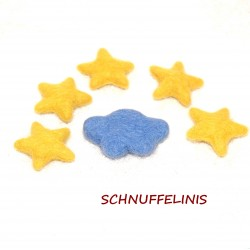 Felted clouds stars set 23...