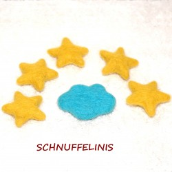 Felted clouds stars set 24...
