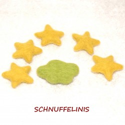 Felted clouds stars set 32...
