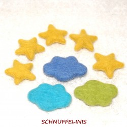 Felted clouds stars set XL...