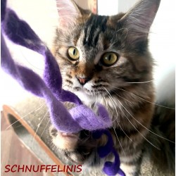 felted cat toy S4 - purple
