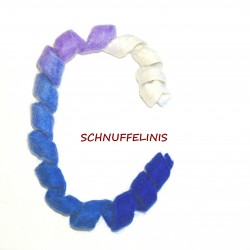 felted cat toy S3 - blau-weiss