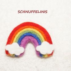 Coming soon felted rainbow