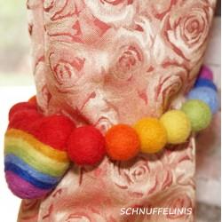 Curtain tie backs rainbow love