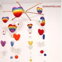 Baby mobile rainbow love