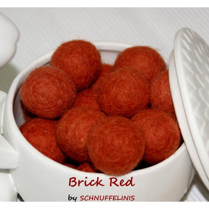 felt balls darker bricks red