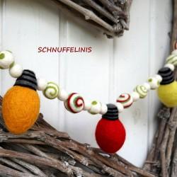 Christmas bulbs garland
