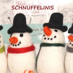 Snowmen felt DIY garland
