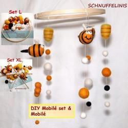 DIY set Baby mobilé honey bee
