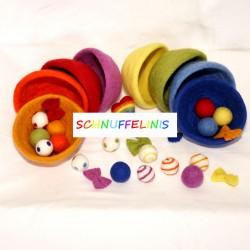 Sorting game rainbow set