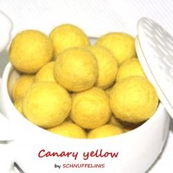 Felt Balls 04 canary yellow