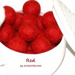 Felt Balls 08 red