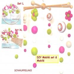 DIY Baby Mobilé Blütenwirbel