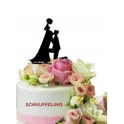 Cake topper Couple pregnatn...
