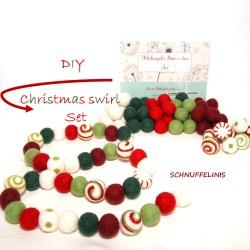 DIY Christmas garland swirl