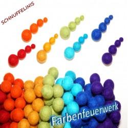 Felt balls 70pcs. Colour...