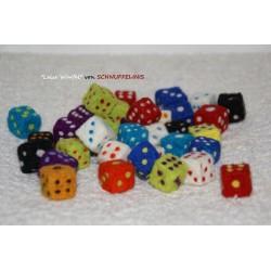 felt dices, cube