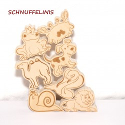 Stacking animals made of wood