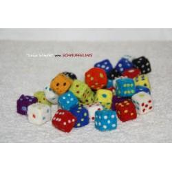 felt dice, cube