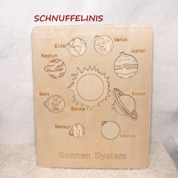 Solar system made of wood