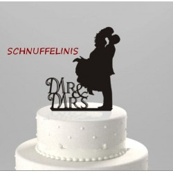 Cake topper Couple Mr&Mrs -...