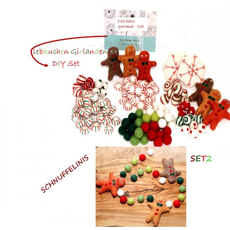 Gingerbread Christmas Garland Set2