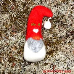 Weihnachtsgnome aus Filz rot