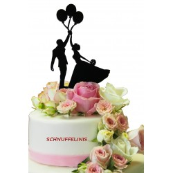 Cake topper Brautpaar Ballons