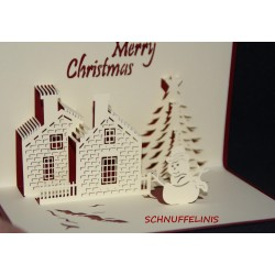 Christmas greeting card 3D