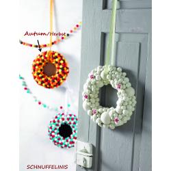 Autumn door hanging wreath