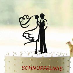 Cake topper Couple bridal veil