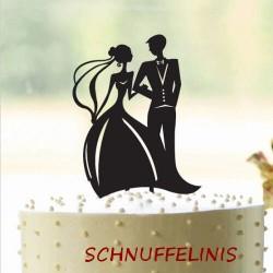 Cake topper Brautpaar am Arm