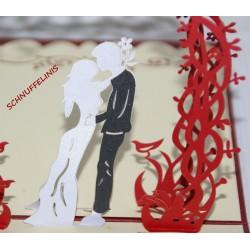 Hochzeitskarte Liebespaar,...