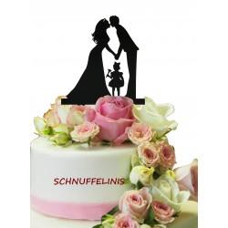 Cake topper Brautpaar + Kind