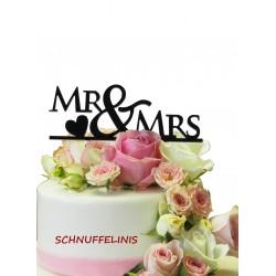 Cake topper Brautpaar Mr&Mrs