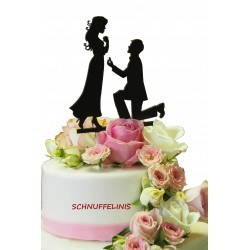 Cake topper Couple Proposal