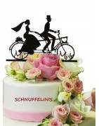 Hochzeitstorte, Cake topper, Torten Topper, schwangere Braut, Bautpaar mit Hunden, Hochzeitskutsche, Torten Deko, Hochzeitstorten Topper