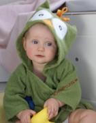 Baby Bademantel, Kleinkindbademantel, Eule Bademantel