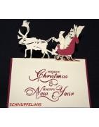 festliche Karten zu Weihnachten, Geldgeschenk festlich