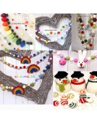 Happy Felt Balls Garland and Craft Accessories from and for Felt