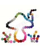 Filzkugeln, einfarbige Filzkugeln, div. Grössen, Farben