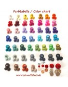 felt balls 100% wool, pick your sizes, kids craft supplies