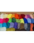 Filzwolle in einer grossen Farbauswahl, Wolle zum Filzen